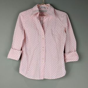 Tommy Hilfiger | Pink White Button Down Top Career
